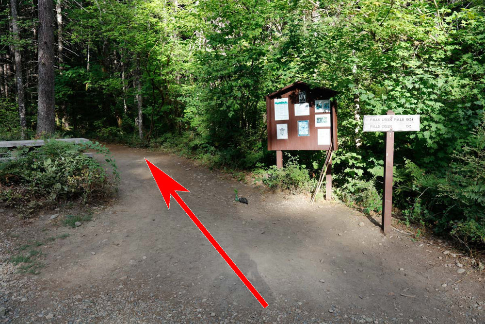 Trailhead left of restrooms