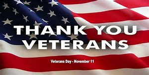 Thank You Veterans! - Thank you to all Veterans for your service to our Great Country! No matter where we are, if we see a veteran, please stop and thank them for their service! Not just today, but everyday!Michael R. FandellNovember 11, 2018