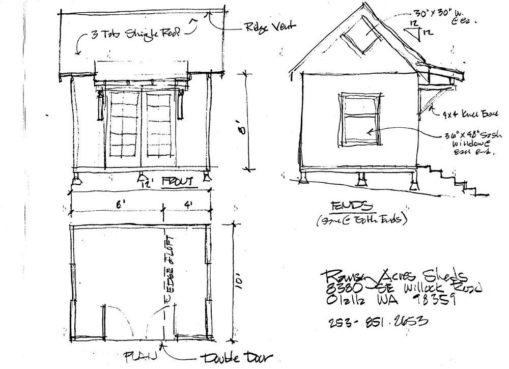 Shed/Tiny house plans
