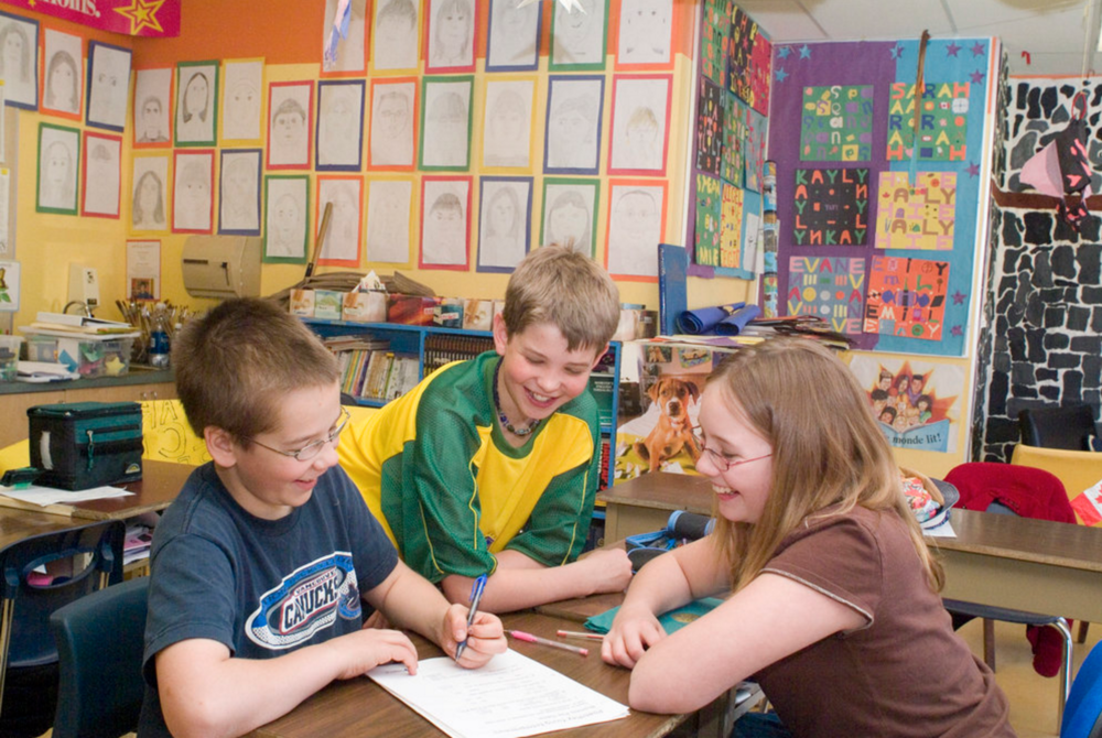 Elementary students build social-emotional skills by collaborating together to make a difference