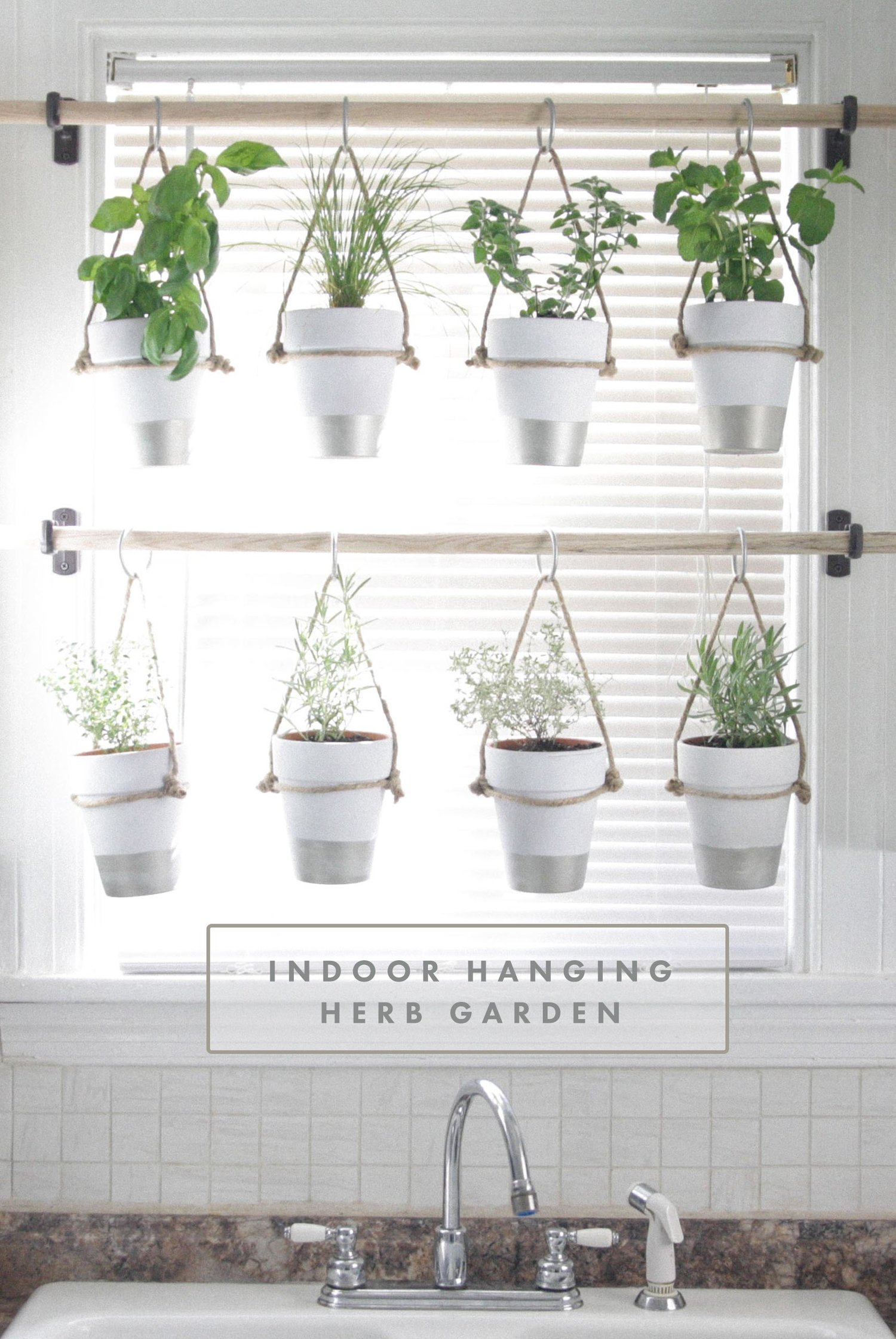 The Bird And Her Song Indoor Hanging Herb Garden