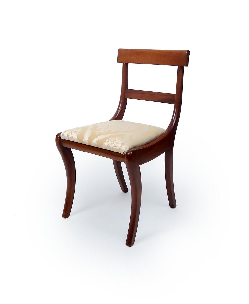 Second Pair Of Regency Style Klismos Chairs Regency Style Furniture R81