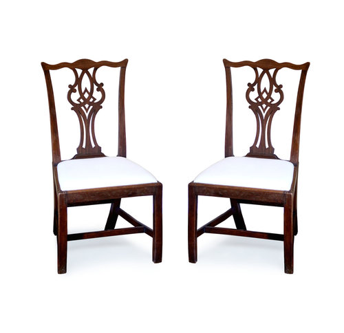 Pair Of American Chippendale Chairs Klismos Gallery