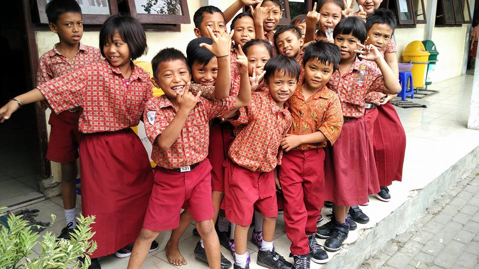 Children from the Surabaya after school program
