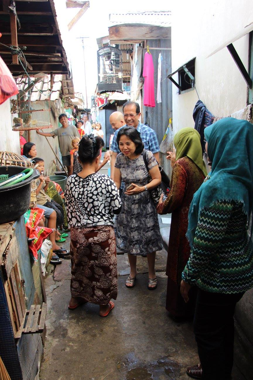 Pastor Paul and Joyce visiting the local communities of the schools in Surabaya