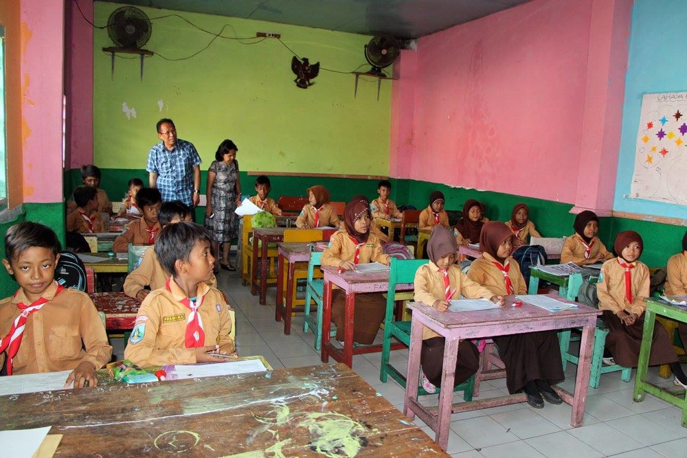 One of the after school programs at a school in Surabaya
