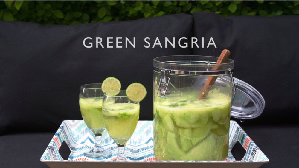 Jen Wise // Green Sangria // Recipe // Real Food