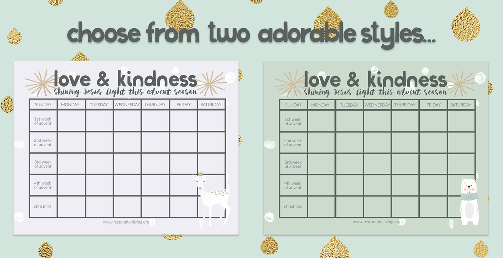 Free Acts Of Kindness Advent Calendar For Kids Jen Wise