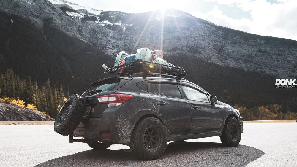 Entering Banff National Park