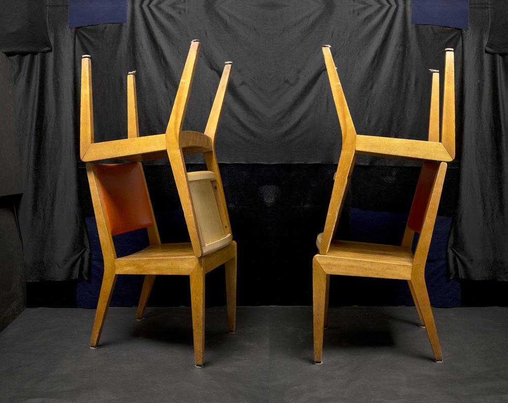 Two Chairs for Doris Salcedo 2016