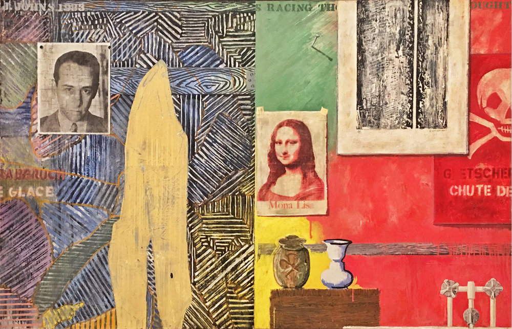 Jasper Johns -Racing Thoughts 1983 - clarified. Currently on view at the Whitney Museum. (3/17)