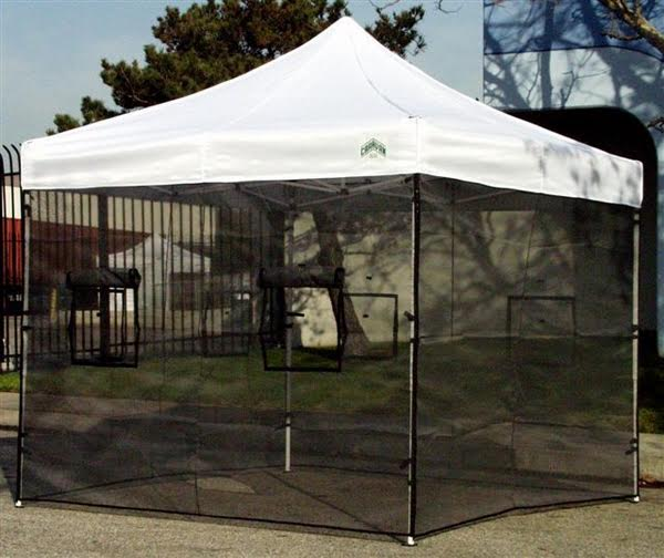 ADD ON - Rent a Fully installed Food Vendor Canopy with fire proof Cert mesh walls extinguisher exit sign no smoking sign tarp and plywood floor & ADD ON - Rent a Fully installed Food Vendor Canopy with fire proof ...