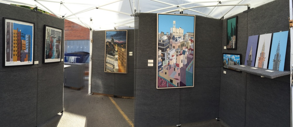 The Reyes Fine Art Cityscape Show on display in Santa Fe.