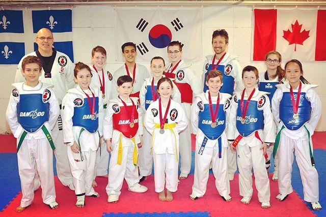Nos participants à la compétition de Saint-Augustin du 28 avril. Bravo à tous! #taekwondo #academiedetaekwondo #quebec #quebeccity #rockon