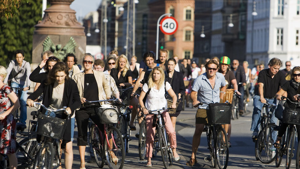 Rush hour in Copenhagen. Photo by  VisitCopenhagen .