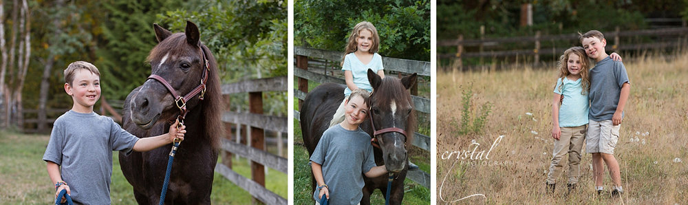 Grayson & Amanda with Annie the pony.