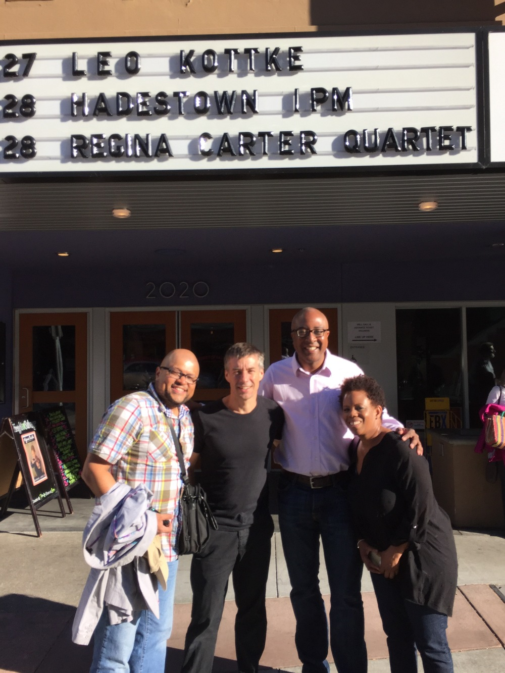 With Regina Carter's Band in Berkeley, CA