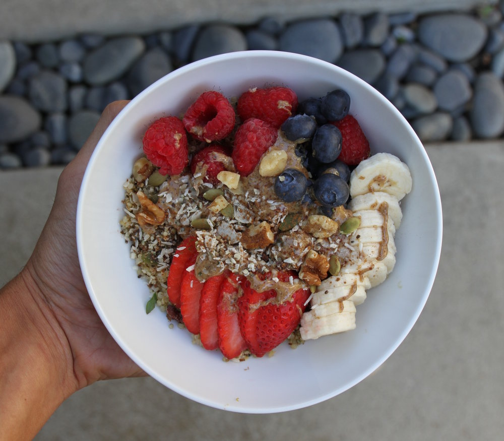 How To Do It: I Put Some Cooked Quinoa In A Bowl And Just Toss In Some  Fruit €� Typically Berries; Strawberries, Raspberries & Blueberries €� Along  With