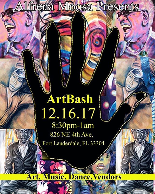 HOUSE OF WINGS will be at Alfrena Moosa's ARTBASHHHH🎉 THIS Saturday DECEMBER 16🎉@8pm Come out and enjoy our AMAZING WINGS AND BEAUTIFUL ARTWORK!! 826 NE 4 ave Ft. Lauderdale, FL 33304 TICKETS (purchased online or at the door) www.alfrenaartbash.eventbrite.com 11 AMAZING ARTIST, FOOD, MUSIC, VENDORS, POETRY and MORE👍all night long!
