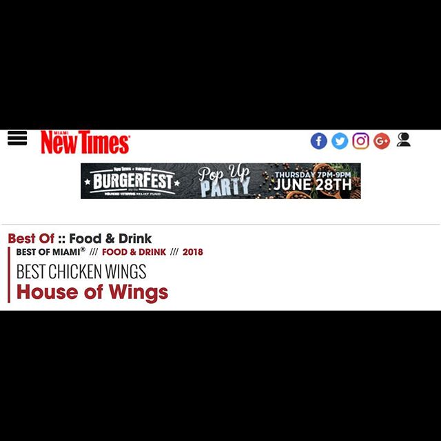 Here at House Of Wings we separate the GOOD, from the  mediocre. Head on over to Miaminewtimes.com to read all about it.  But if you need more convincing, feel free to check us out for yourself! Open until 8pm!  #theproofisintheSAUCE #wehaveover50ofthembtw #houseofwings #bestchickenwings #wingkingmussaddiq