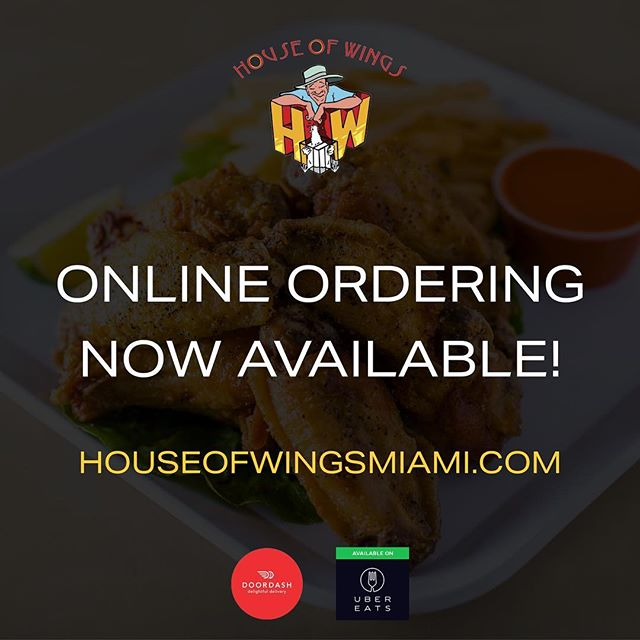 Place your ONLINE order today. Skip the lunch rush line, purchase online and pickup your order. #yourealreadyonlinesoplaceyourorderthere #skiptheline #miamilunch #houseofwings #bestchickenwings