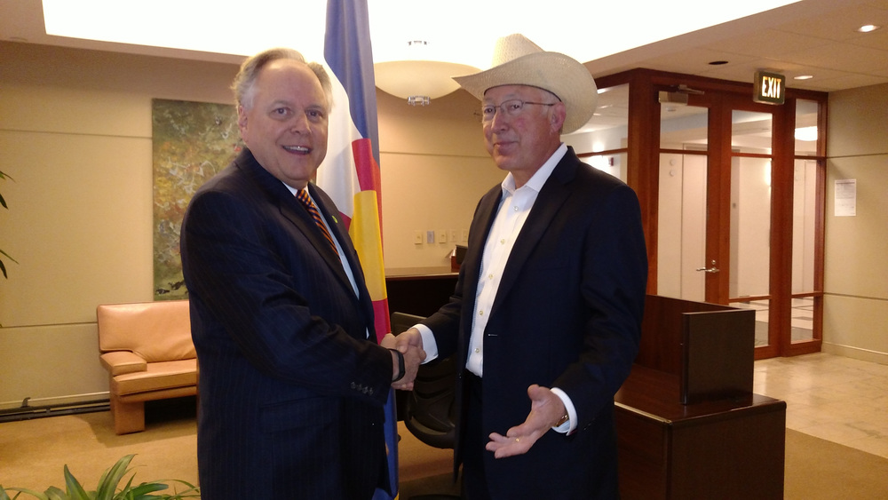 Ken Salazar stands with jeff!