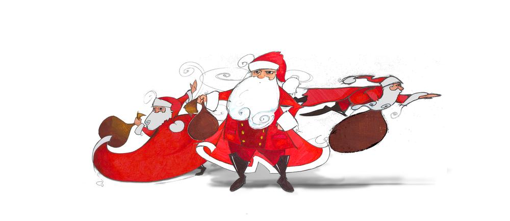 Santa in Action ist eine Kreation von Zoe Bührer,  partners in graphics .