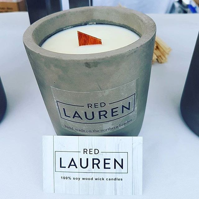This Saturday @red_lauren will be joining us! Premium soy candles with long lasting wooden wicks.  The #concretecraze has finally reached the candle market!! #DM #seriouslydecent #local #sydney #community