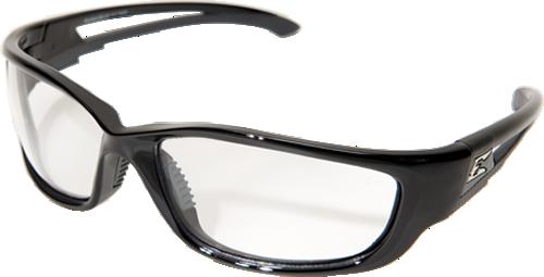 edge kazbek xl skxl111vs safety glasses vapor shield antifog clear lens with gloss black nylon frame