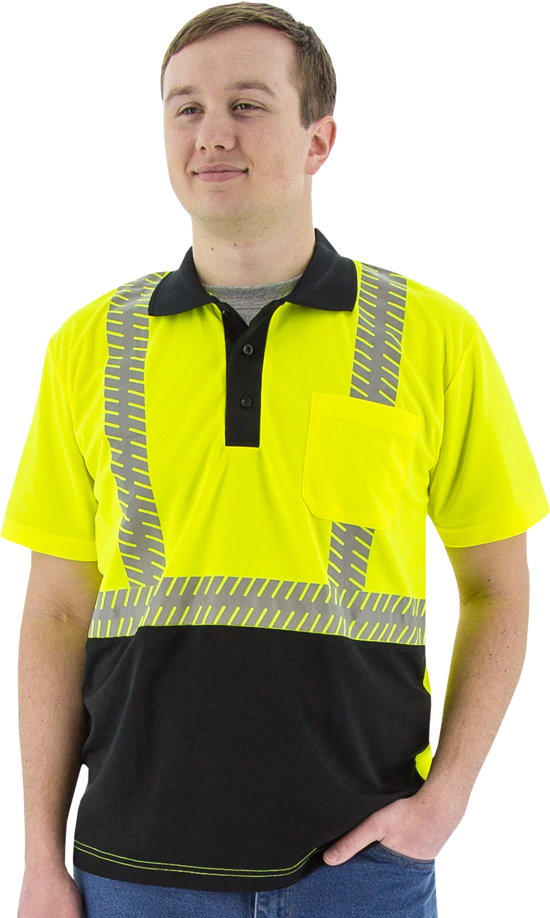 Majestic 75 5213 Short Sleeve Polo Shirt With Reflective Chainsaw