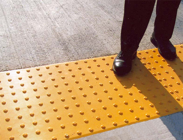 ADA Detectable Warning Mat Installation