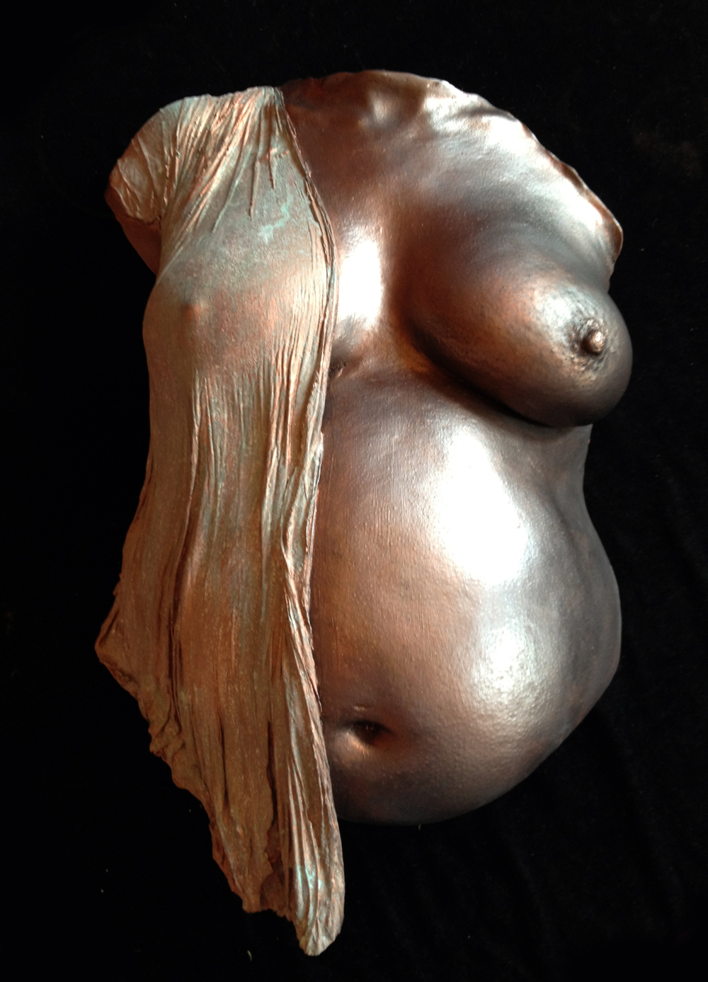 Belly cast with cast cloth, made collaboratively with Sharron Mundy on one of our advanced lifecasting training workshops.