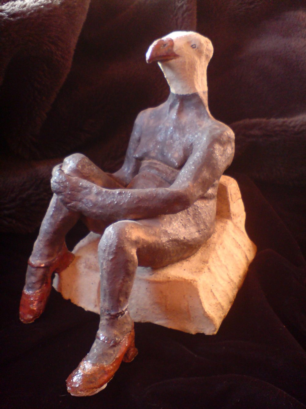 'Eagle-headed lady in Mary Jane Shoes' by CJ Munn (sold)