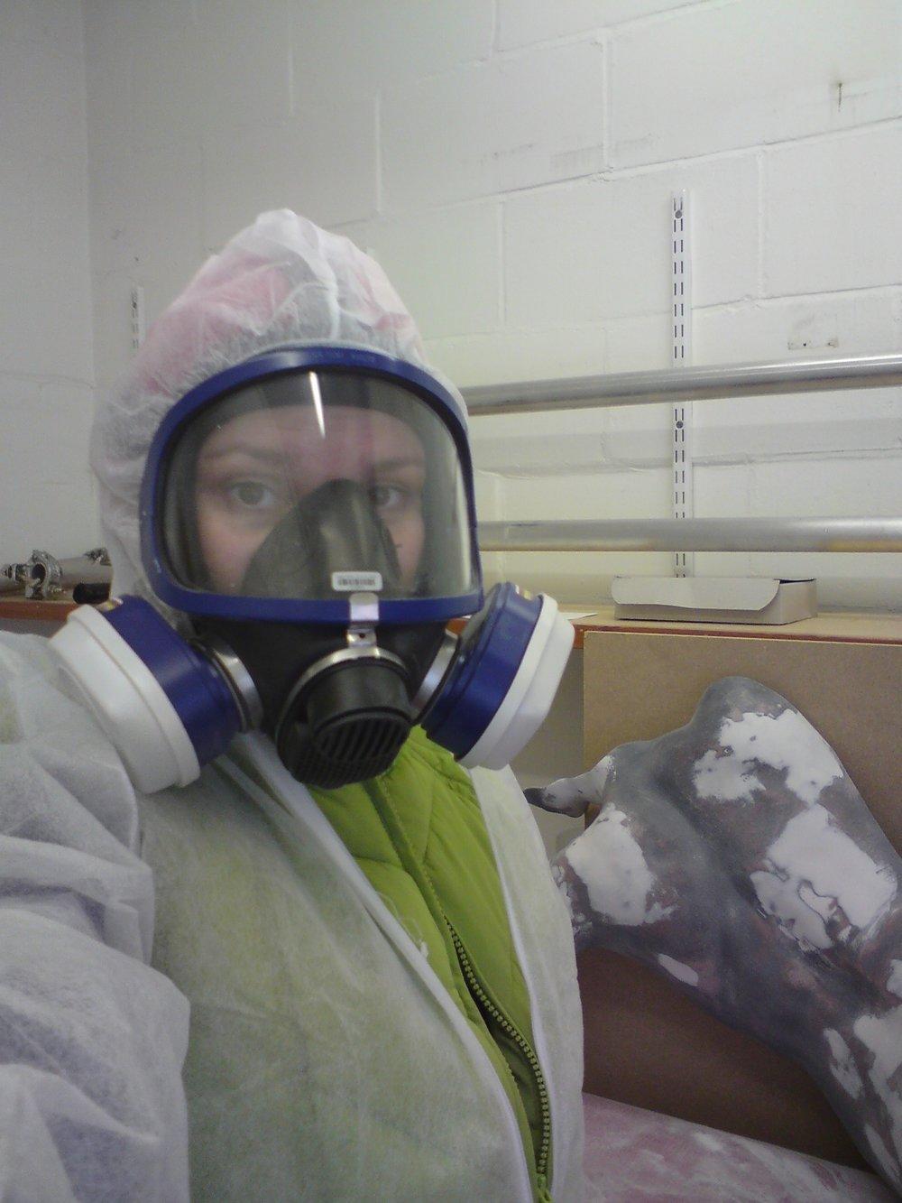 CJ Munn in Safety Mask