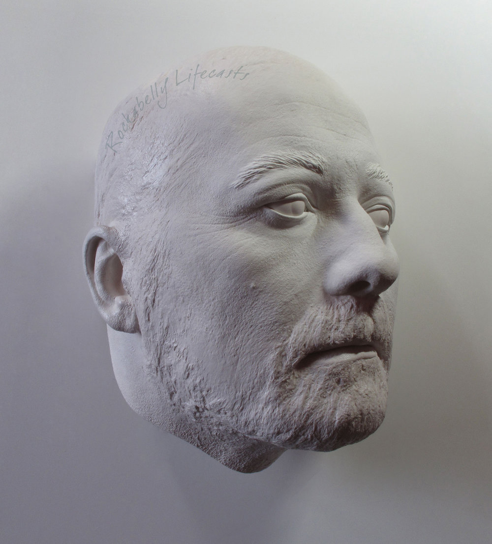 Plaster head casting by Masters & Munn