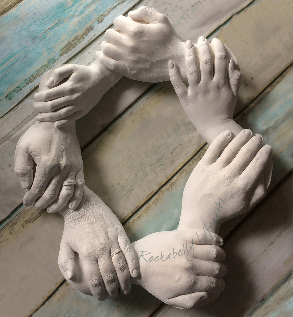 Family groups & adult hand casts