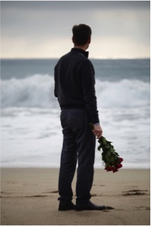 "Fr. Marc, who considers himself a ""hopeless romantic,"" took his location images at the beach."
