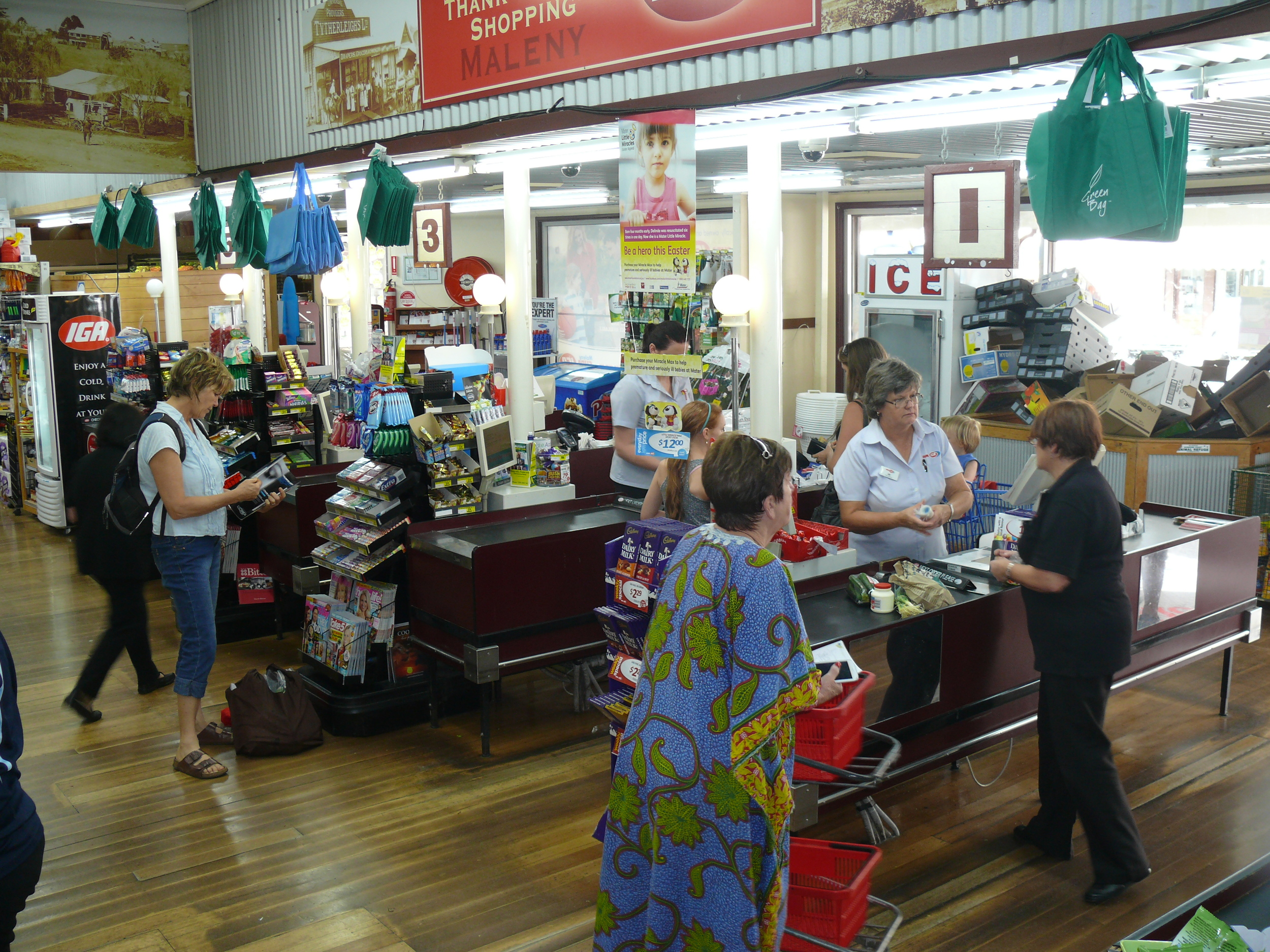 Maleny IGA old register photo