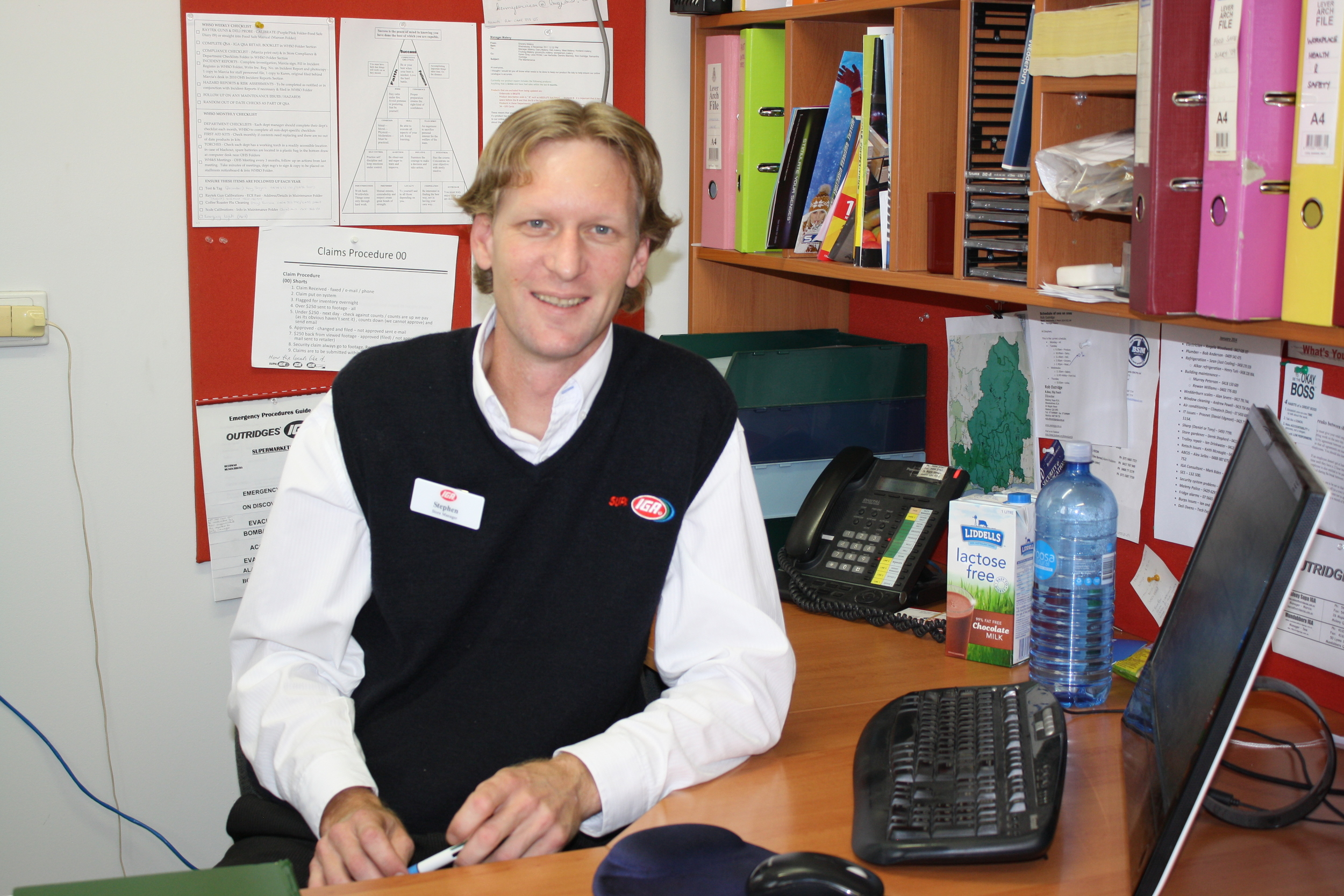 Stephen in his new office