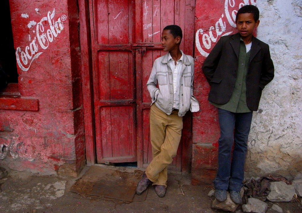 """Boys standing"" Gondor, Ethiopia"