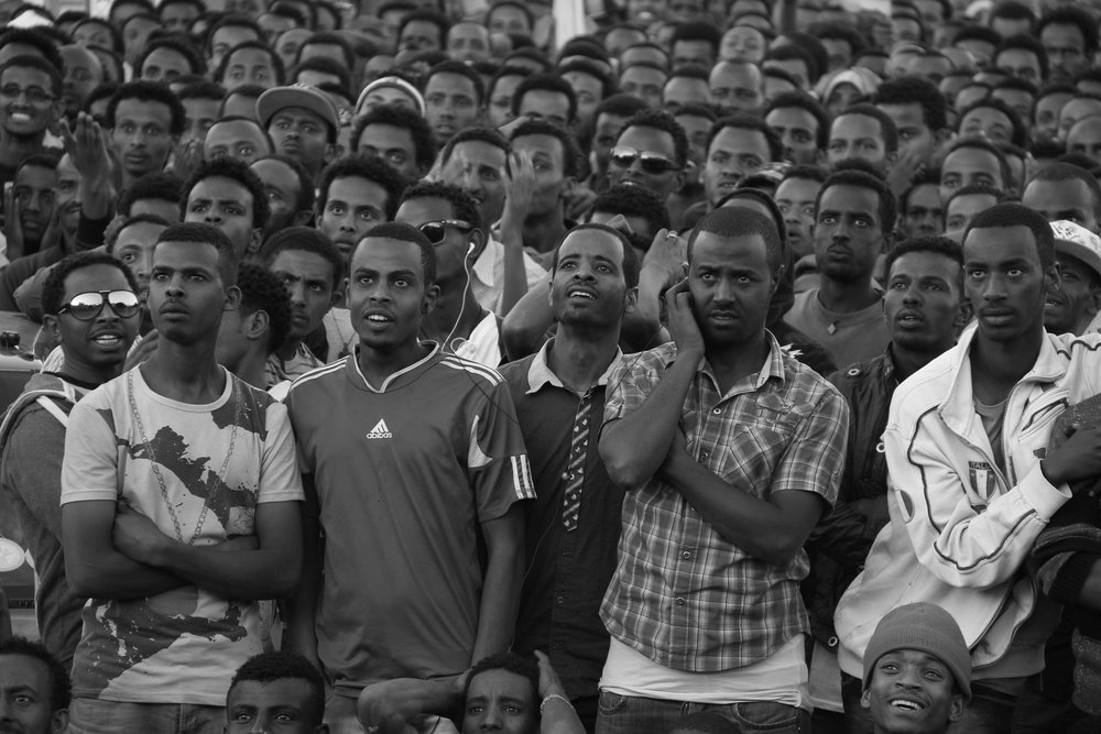 """Soccer fans"" Addis Ababa, Ethiopia"