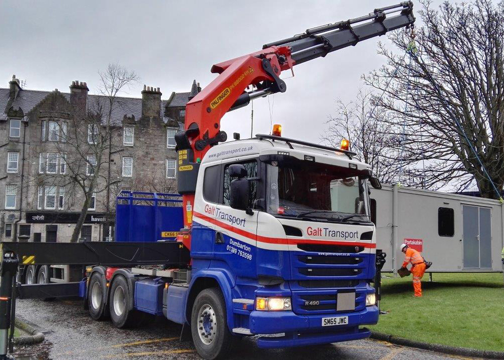 Hiab lift Dumbarton