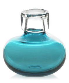 "Bliss Vase - Aqua 6"" x 6"""