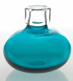 "Bliss Vase - Aqua 7"" x 6.5"""