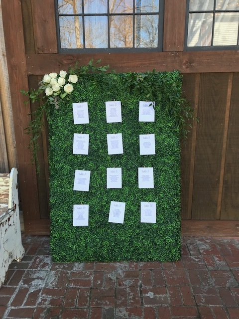Boxwood Seating Assignment