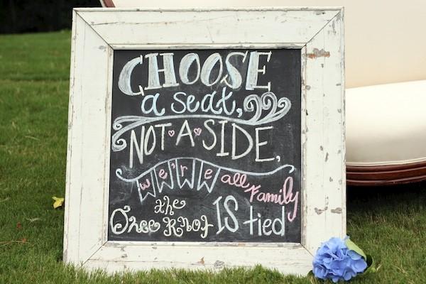 Choose a Seat Chalkboard