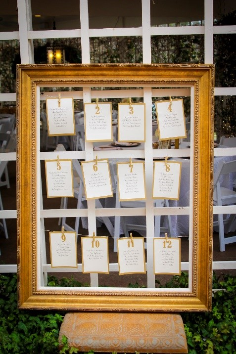 Gold Frame Seating Assignment