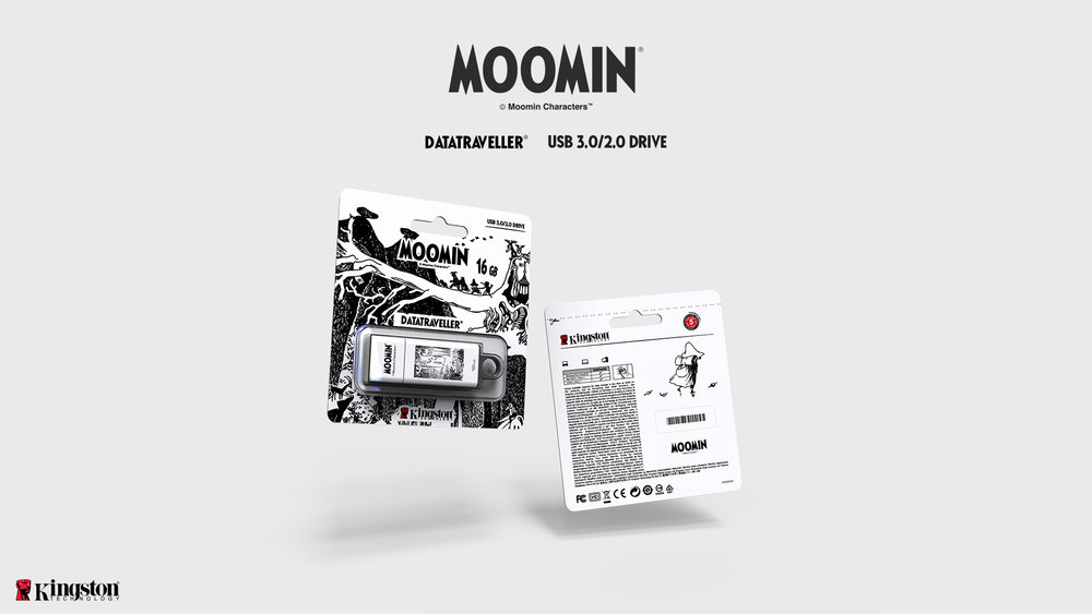 Product and Packaging Design: Kingston USB Stick and Moomin