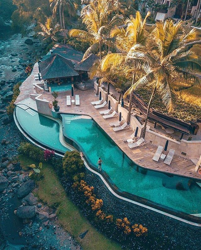 Paradise nestled within the  lush Ayung River Valley in Ubud, Indonesia | Tag someone who would love this👇 . . . Photo by @mgtenazas