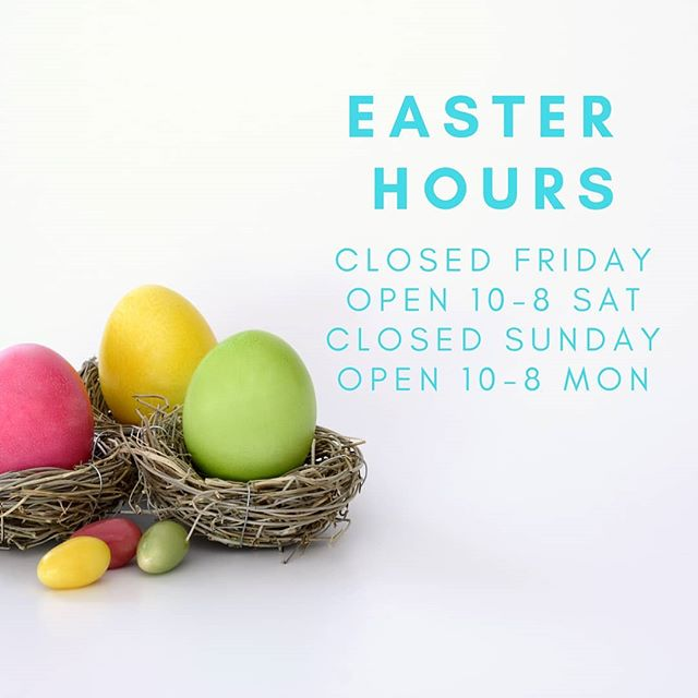 Closed tomorrow and Easter Sunday but hop on in on Saturday!  #socialenterprise #smartshopping #thriftshop #yyt #family #easter #shoplocal